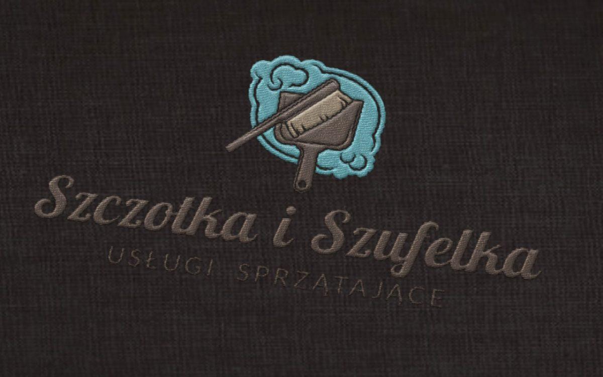 Projekt logo Szczotka i Szufelka - Usługi sprzątające - Białystok