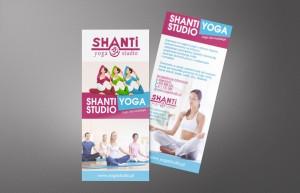 Shanti Yoga - Projekt ulotki - Białystok - Warszawa