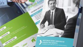 Projekt folderu reklamowego – Virtual Assistant