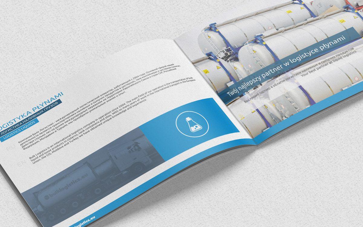 Projekt katalogu reklamowego - Bulk Logistic - Projekty katalogów - Clouds Agencja Reklamy Białystok