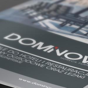 Projekt katalogu reklamowego Dominova - Białystok | Warszawa