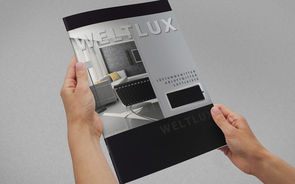 Projekt katalogu reklamowego - Weltlux - Projekty katalogów - Clouds Agencja Reklamy Białystok