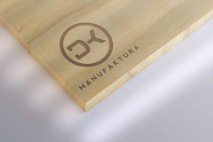 Projekt logo DK Manufaktura - Clouds Agencja Reklamowa Białystok