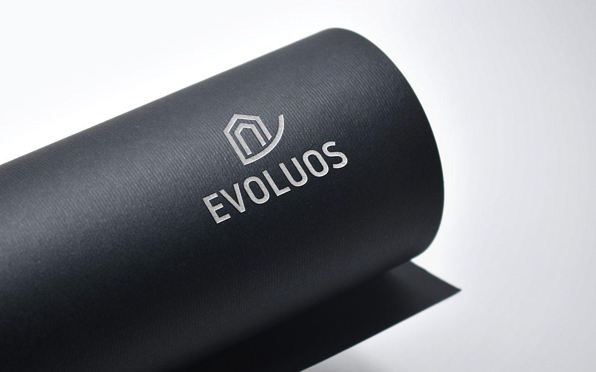 Projekt logo - Evoluos - Clouds Agencja Reklamowa Białystok