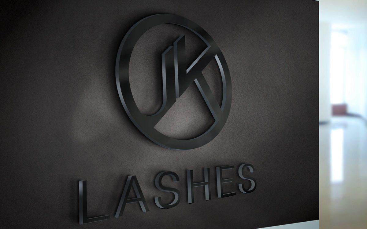 JK Lashes - Projekt logo - Białystok