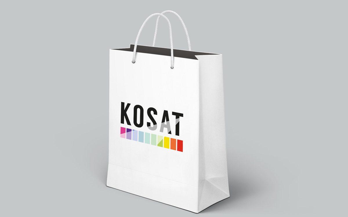 Projekt logo KOSAT - Agencja Reklamy Białystok