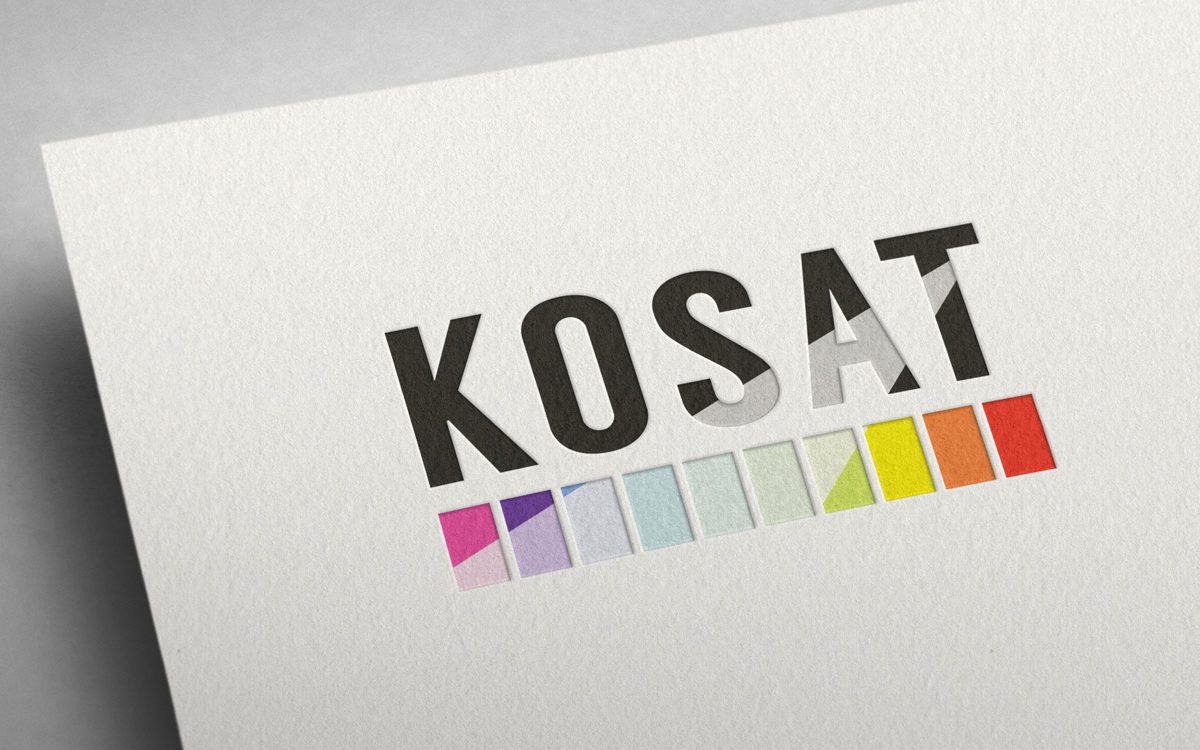 Projekt logo KOSAT - Studio Graficzne Białystok