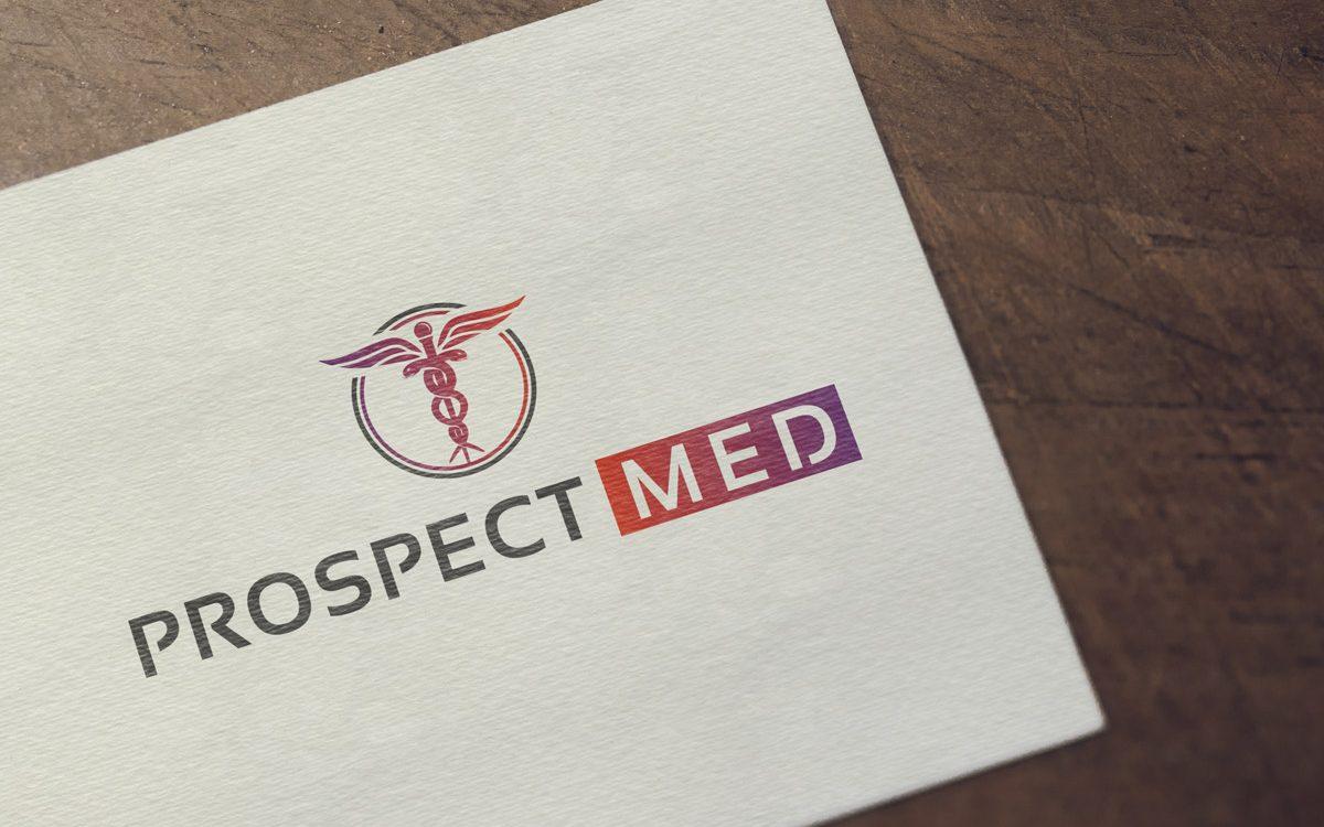 Projekt logo - Prospect Med - Clouds Agencja Reklamowa Białystok