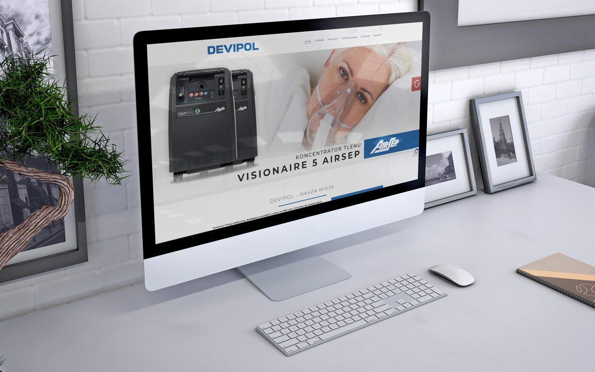 Projekt strony internetowej - Devipol - Clouds Agencja Reklamowa Białystok