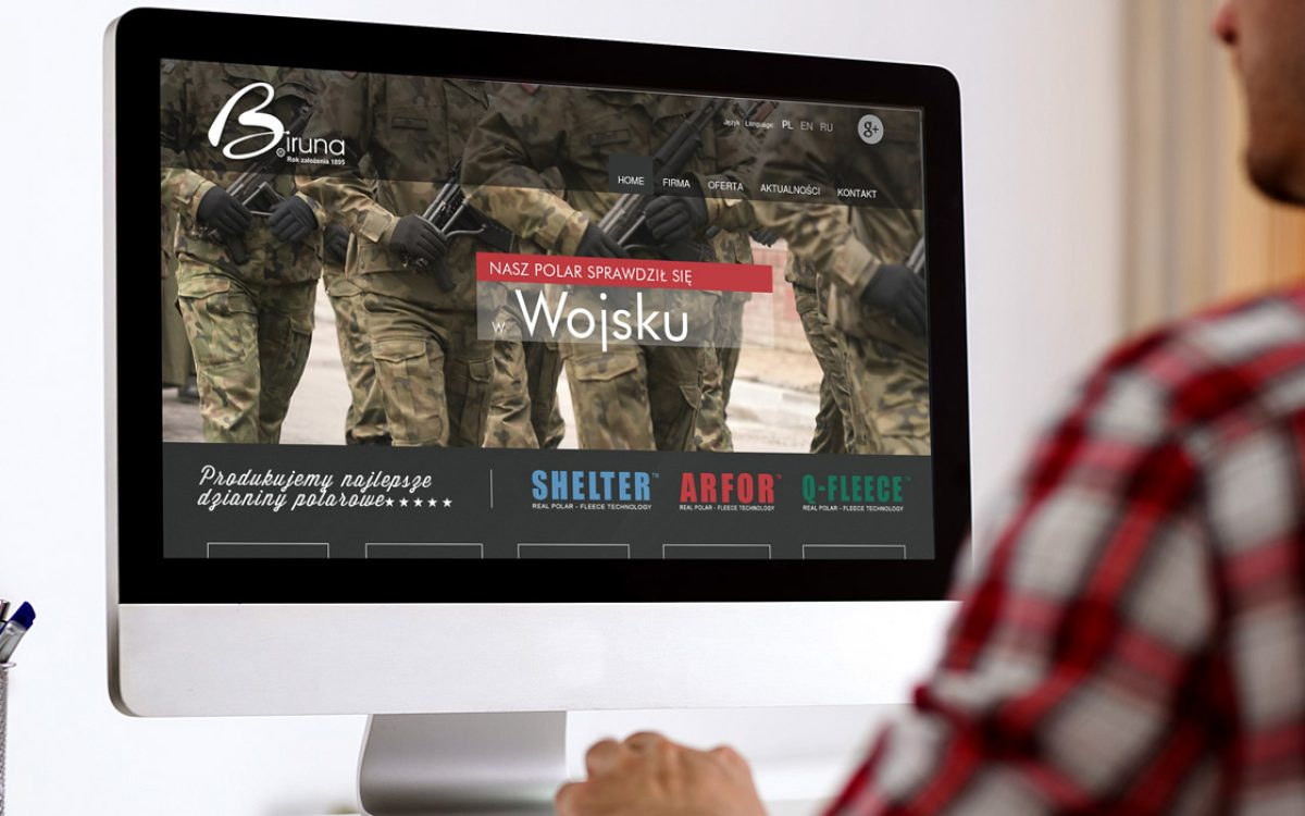 Projekt strony internetowej - Biruna Wasilków