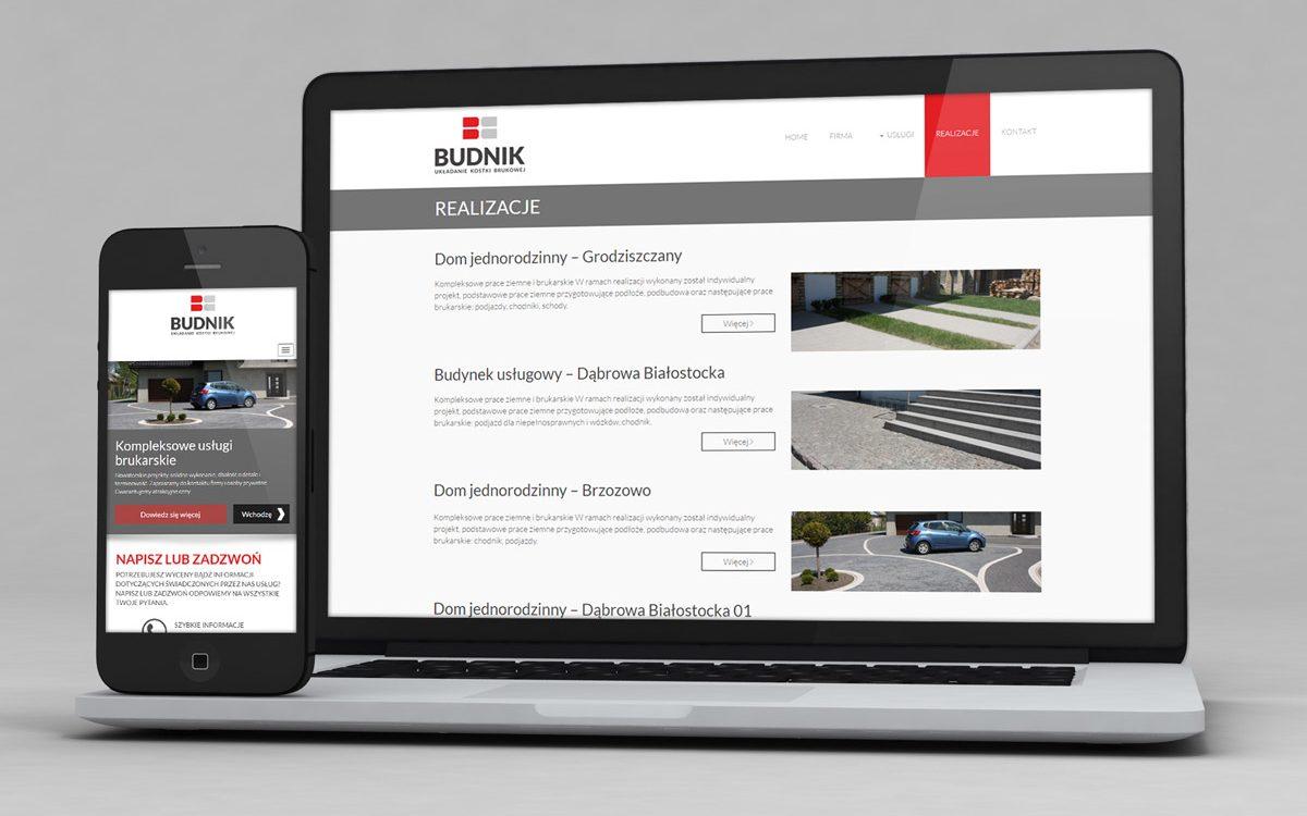 Budnik - Układanie kostki brukowej - Projektowanie stron internetowych - Białystok