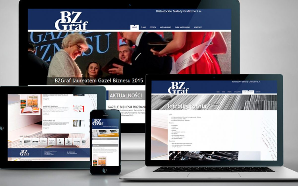 BZ Graf - Projekt strony internetowej - Białystok