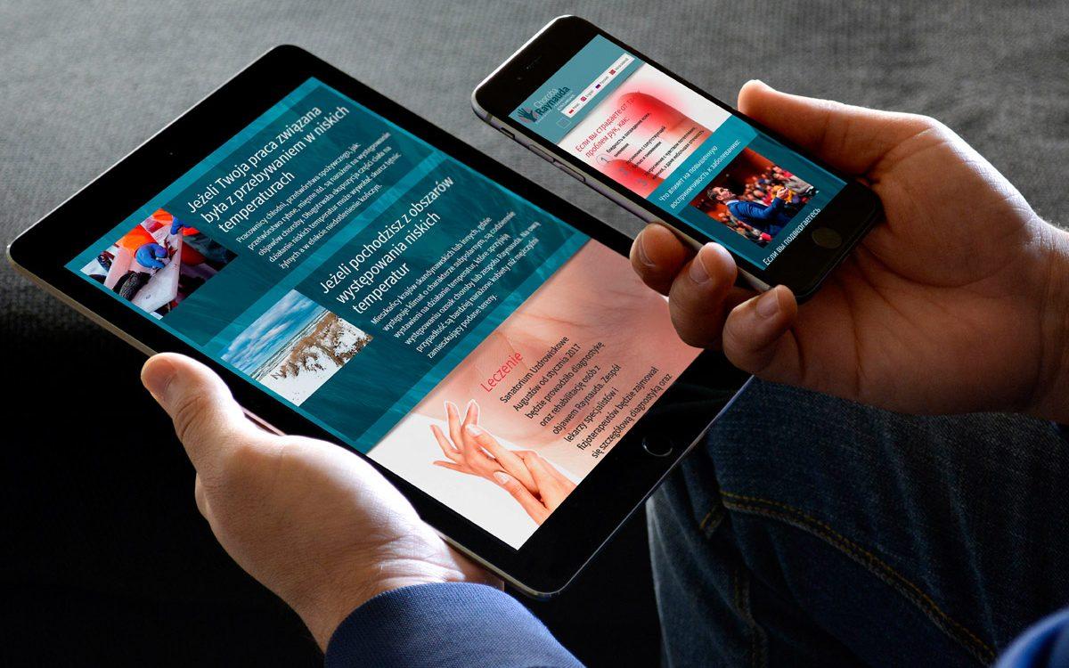 Projekt strony internetowej www.raynauda.pl - Augustów