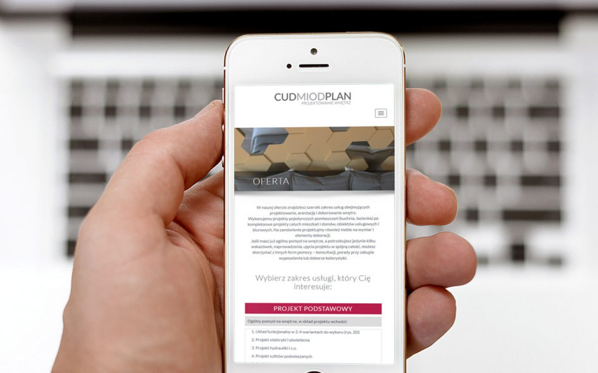 Projekt strony internetowej Cud Miód Plan - Białystok