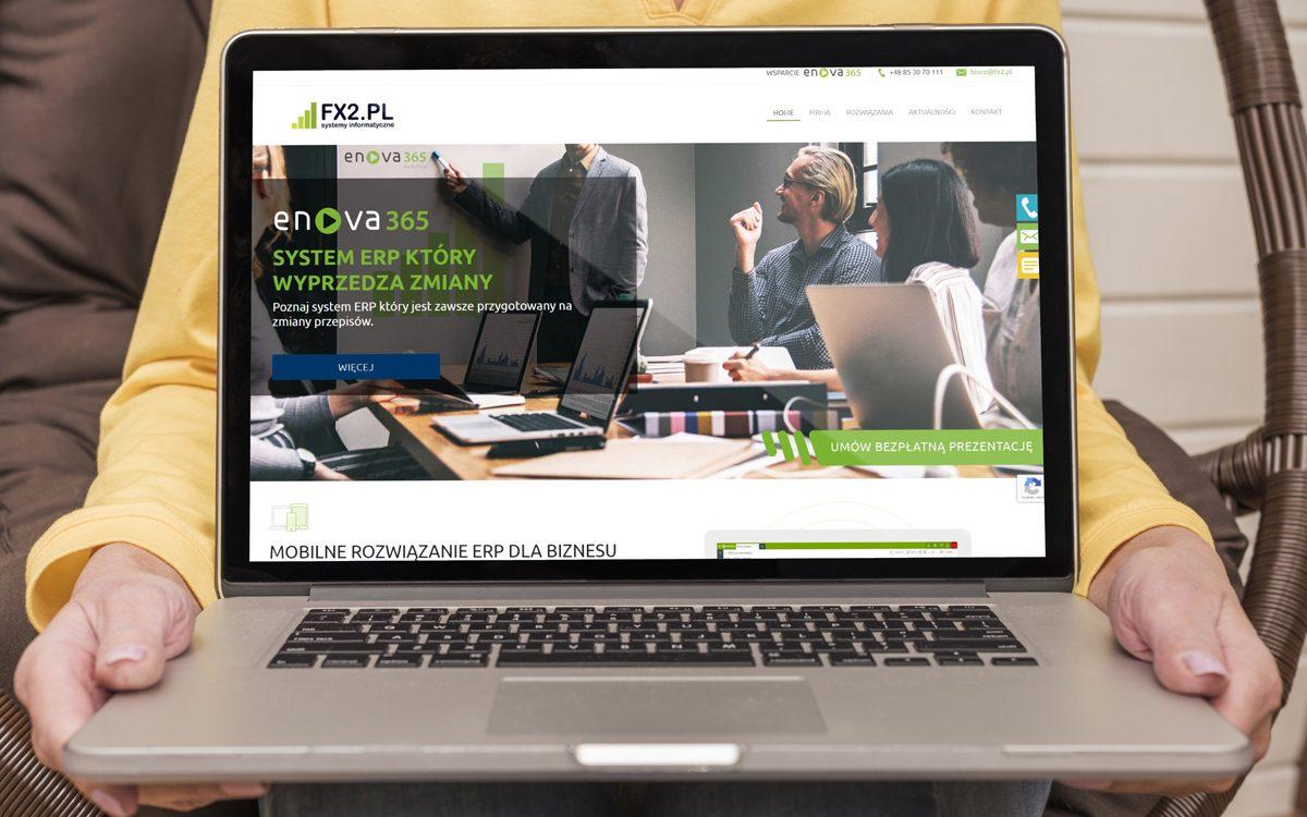 Projekt Strony internetowej FX2 - Clouds Agencja Reklamowa Białystok