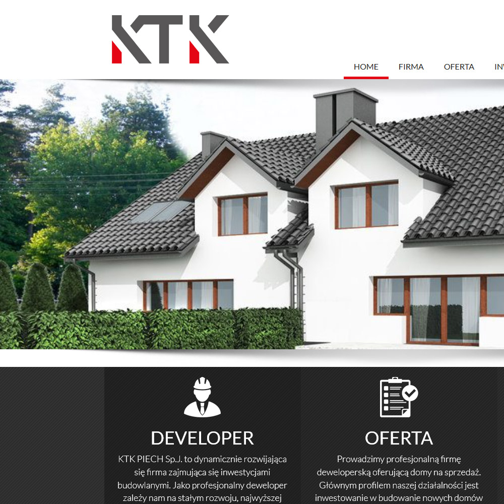 Strona internetowa – www.ktk-deweloper.pl