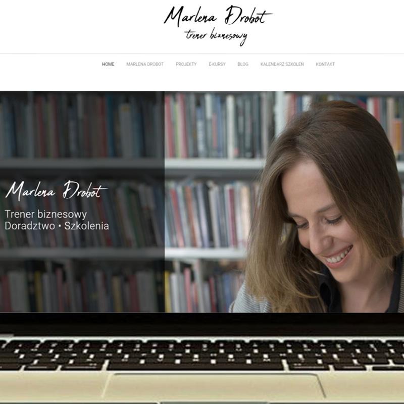 Strona internetowa – www.marlenadrobot.pl