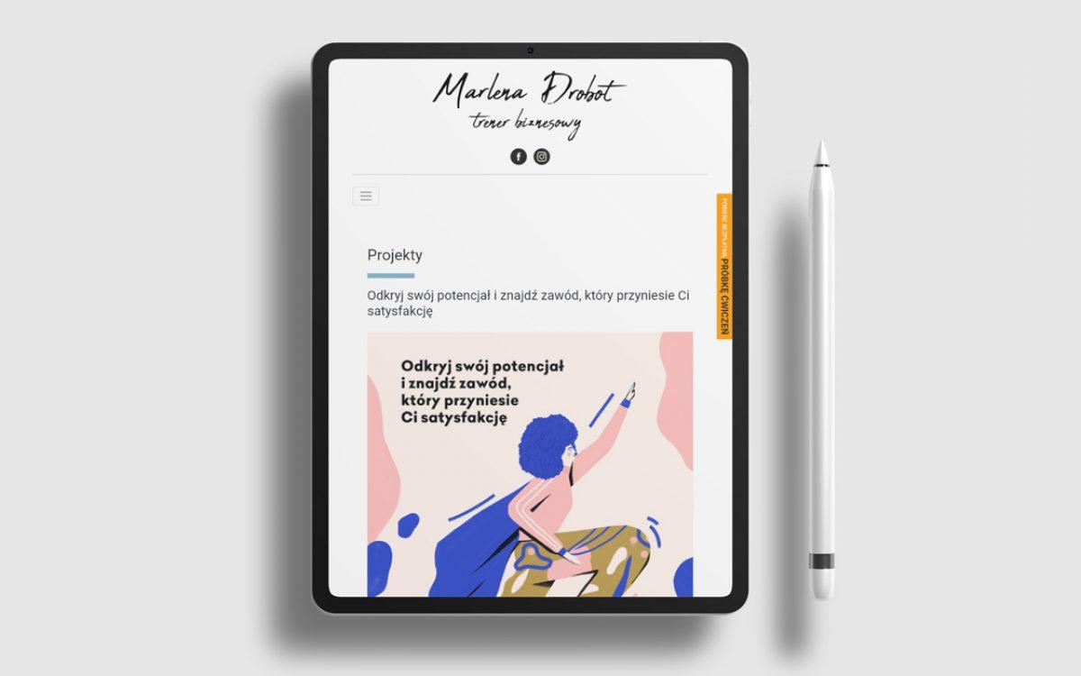Projekt Strony internetowej Marlena Drobot Trener personalny - Clouds Agencja Reklamowa Białystok