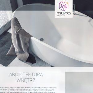 Projekt i wykonanie strony internetowej Muro Studio - Projektowanie wnętrz - Projektowanie stron internetowych Clouds.pl