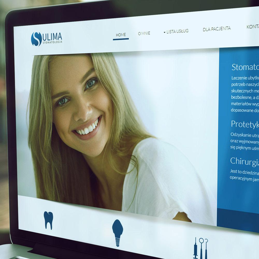 Strona internetowa – www.sulimastomatologia.pl