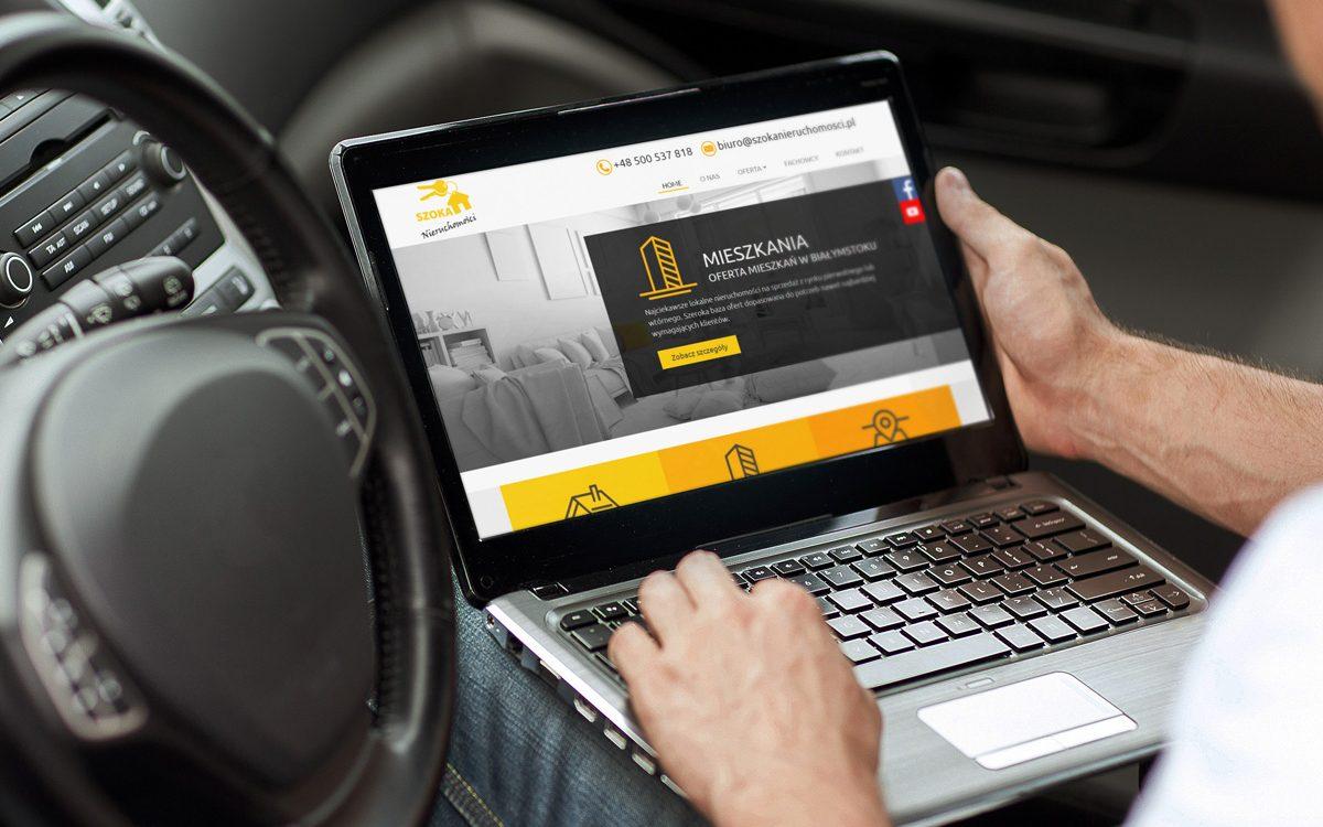 Projekt i wykonanie strony internetowej Szoka Nieruchomości - Projektowanie stron internetowych Clouds.pl
