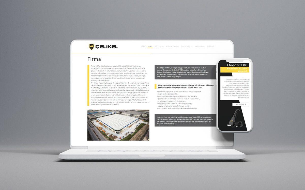 Projekt Strony internetowej Celikel - Clouds Agencja Reklamowa Białystok
