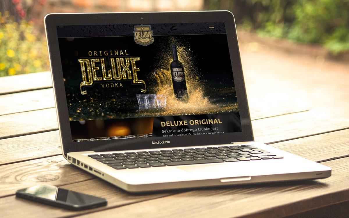 Projekt strony internetowej Deluxe Original Vodka - Clouds Agencja Reklamowa Białystok