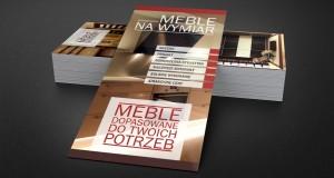 Meble na wymiar - Projekt ulotki - Białystok - Warszawa