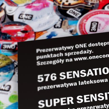 Projekt ulotki – One Condoms