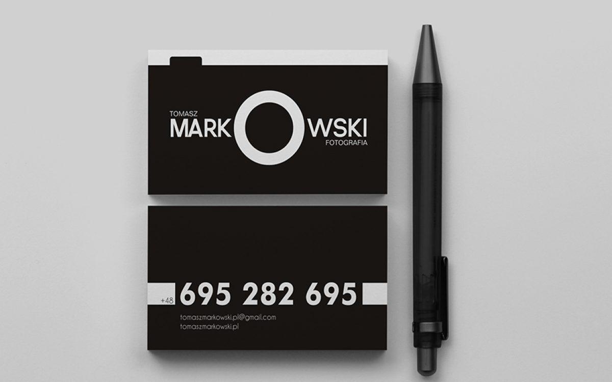 Projekt oraz druk wizytówek - Tomasz Markowski / Białystok