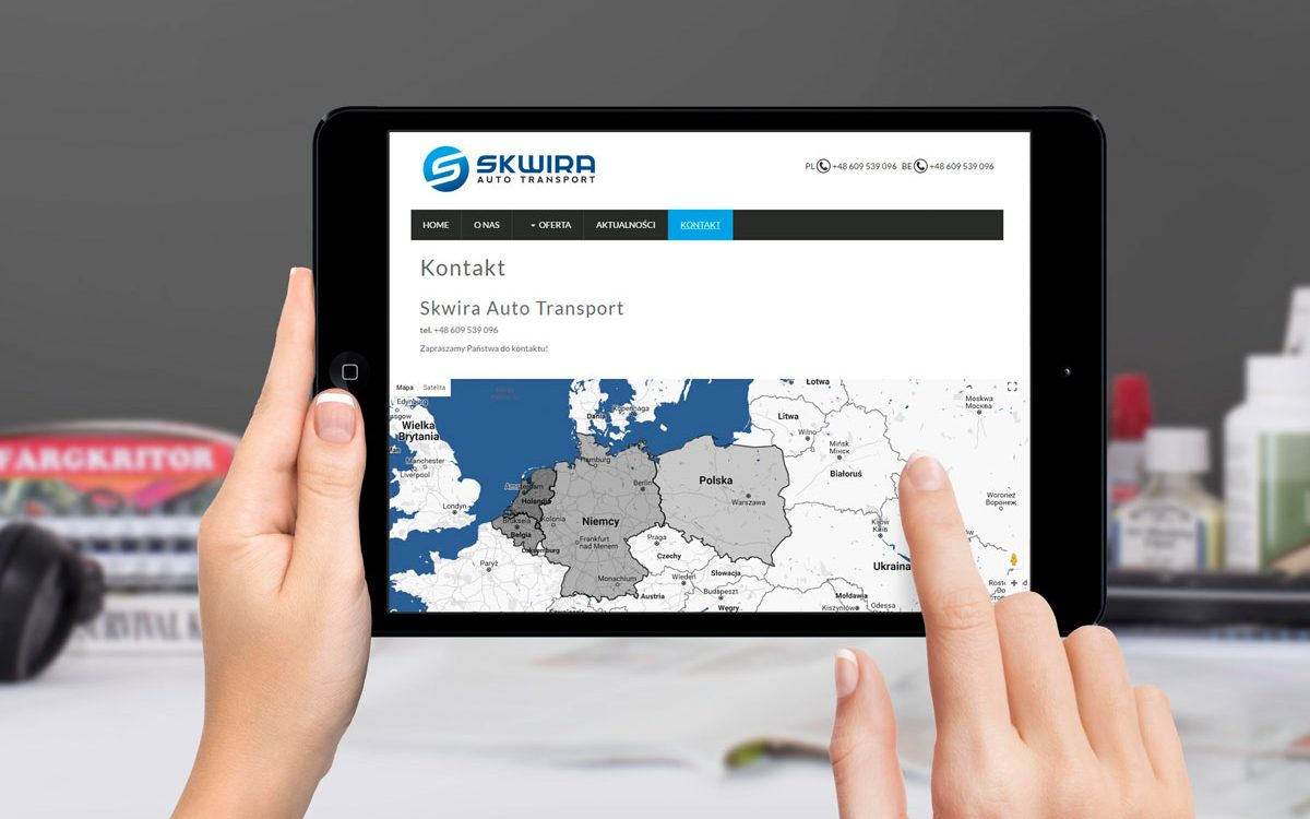 Skwira Auto Transport - Strony internetowe - Białystok