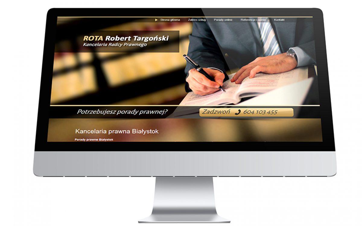 Strona internetowa - Radca Prawny ROTA Robert Targoński   Białystok