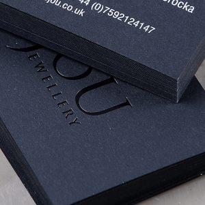 Wizytówki - Hot stamping, sitodruk, papier barwiony w masie
